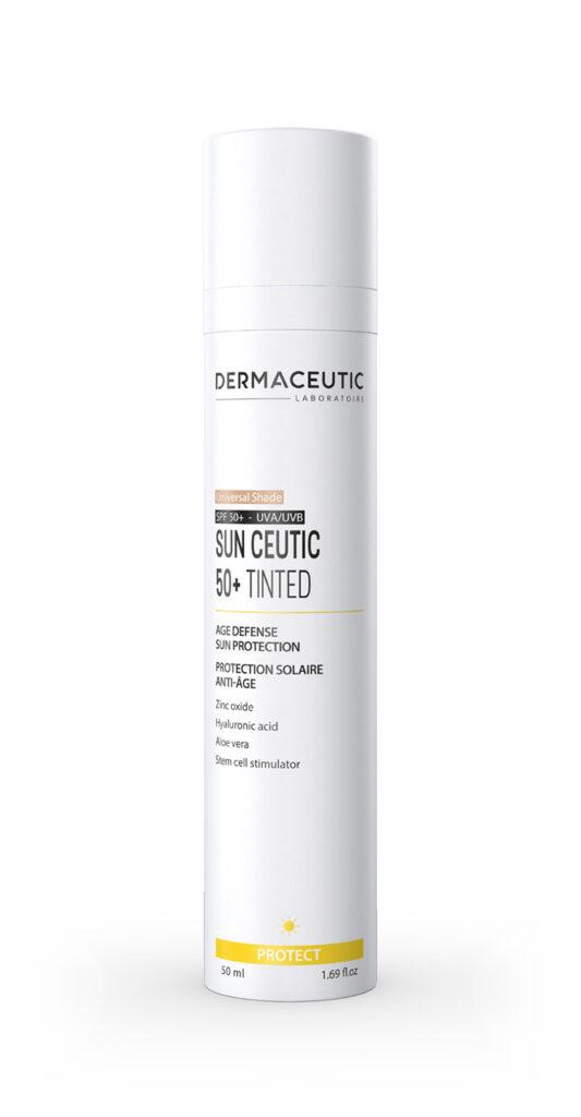 Sun Ceutic 50+ Tinted   PRZECIWSTARZENIOWY KREM OCHRONNY (odcień medium)