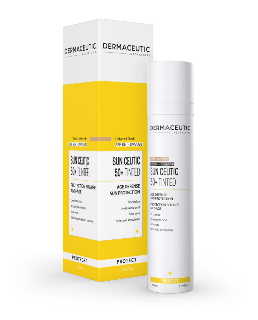 Sun Ceutic 50+ Tinted | Krem ochronny o właściwościach anti-aging z pigmentami mineralnymi (odcień medium)